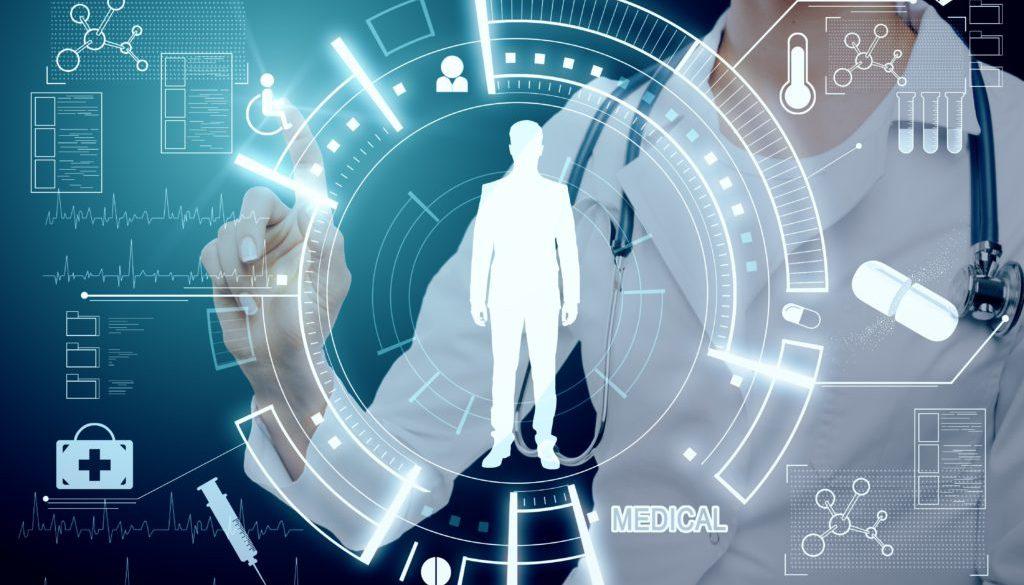 Medicine and tech concept